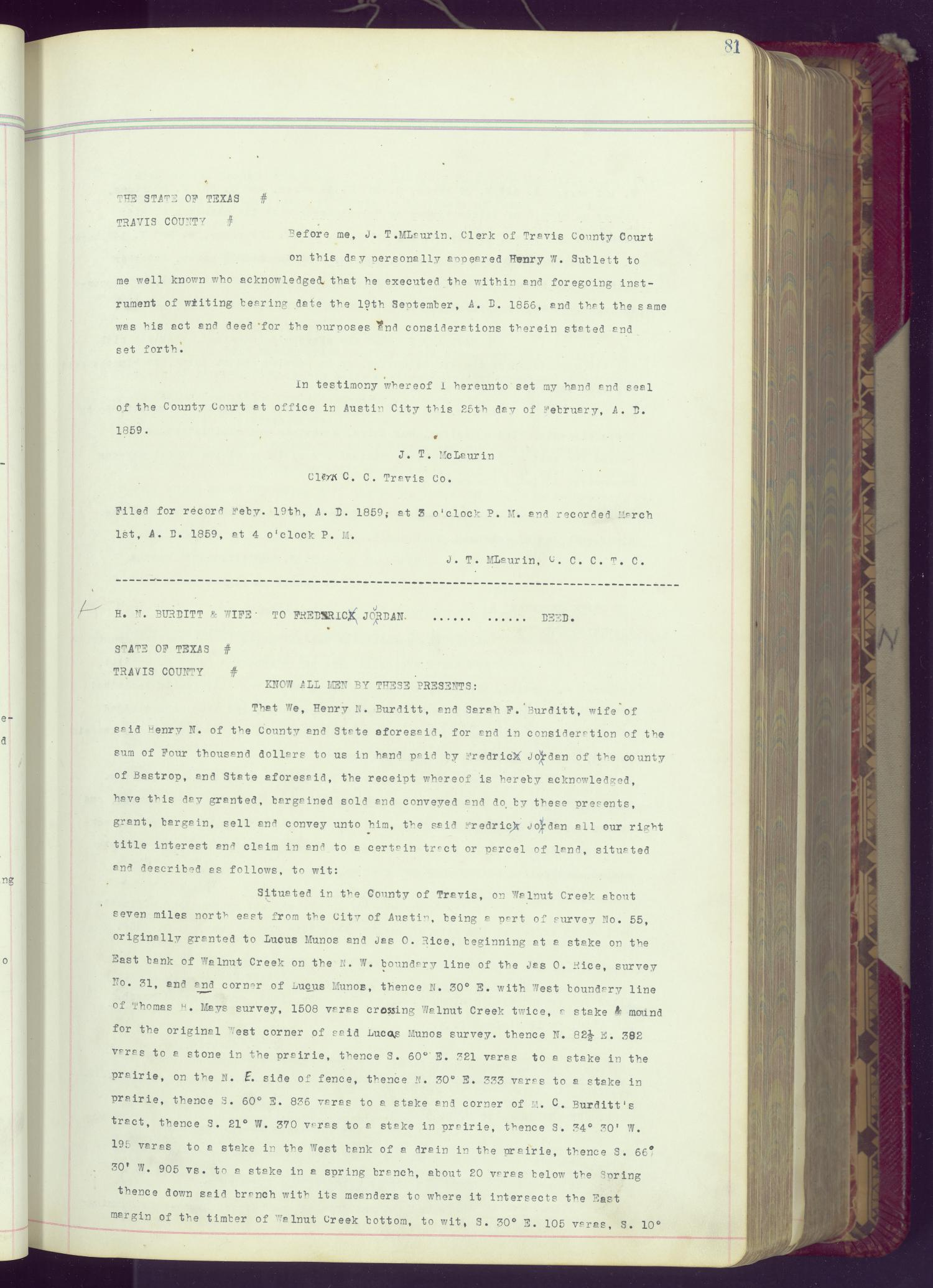 Travis County Deed Records: Deed Record N - Page 81 - The ...