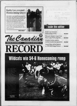The Canadian Record (Canadian, Tex.), Vol. 109, No. 39, Ed. 1 Thursday, September 30, 1999