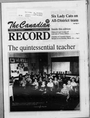 Primary view of object titled 'The Canadian Record (Canadian, Tex.), Vol. 109, No. 60, Ed. 1 Thursday, March 4, 1999'.