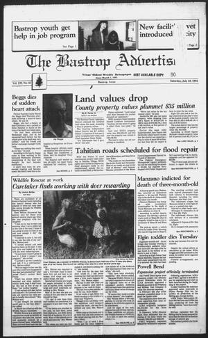 Primary view of object titled 'The Bastrop Advertiser (Bastrop, Tex.), Vol. 139, No. 42, Ed. 1 Saturday, July 25, 1992'.