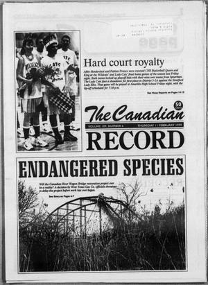 Primary view of object titled 'The Canadian Record (Canadian, Tex.), Vol. 109, No. 57, Ed. 1 Thursday, February 11, 1999'.