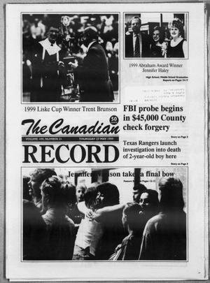 The Canadian Record (Canadian, Tex.), Vol. 109, No. 72, Ed. 1 Thursday, May 27, 1999