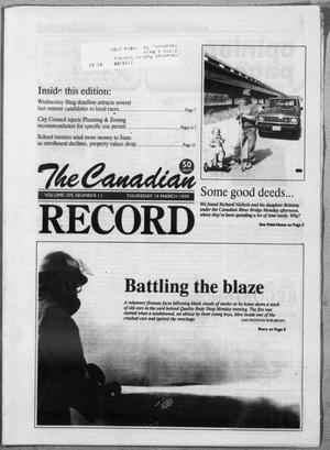 Primary view of object titled 'The Canadian Record (Canadian, Tex.), Vol. 109, No. 62, Ed. 1 Thursday, March 18, 1999'.
