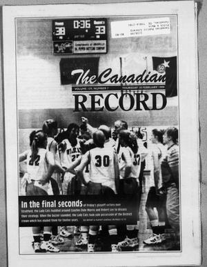 Primary view of object titled 'The Canadian Record (Canadian, Tex.), Vol. 109, No. 58, Ed. 1 Thursday, February 18, 1999'.
