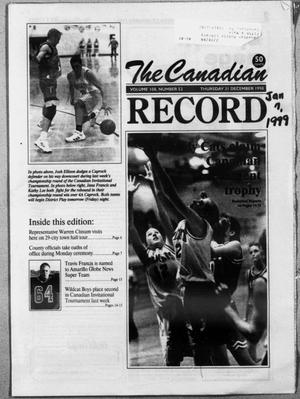 The Canadian Record (Canadian, Tex.), Vol. 108, No. 53, Ed. 1 Thursday, January 7, 1999