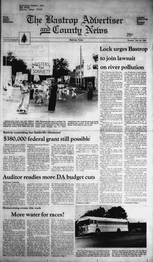 Primary view of object titled 'The Bastrop Advertiser and County News (Bastrop, Tex.), Vol. 131, No. 44, Ed. 1 Monday, July 30, 1984'.