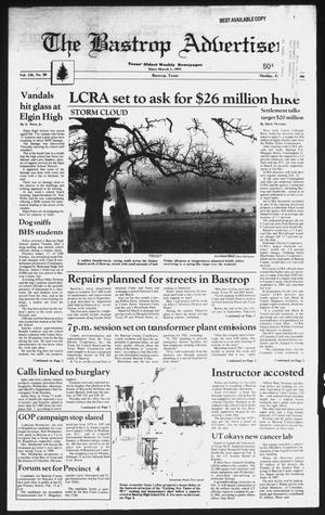 Primary view of object titled 'The Bastrop Advertiser (Bastrop, Tex.), Vol. 136, No. 98, Ed. 1 Monday, February 12, 1990'.