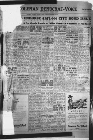 Primary view of Coleman Democrat-Voice (Coleman, Tex.), Vol. 46, No. 50, Ed. 1 Friday, December 16, 1927