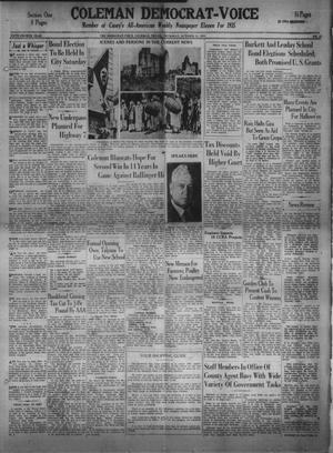 Primary view of Coleman Democrat-Voice (Coleman, Tex.), Vol. 54, No. 43, Ed. 1 Thursday, October 24, 1935
