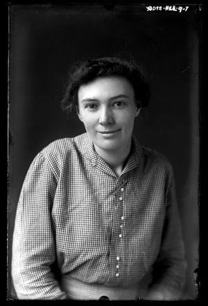 Primary view of object titled '[Woman In Checkered Shirt]'.