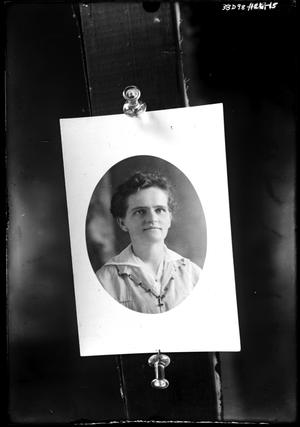 Primary view of object titled '[Photograph of a Woman]'.