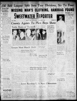 Primary view of object titled 'Sweetwater Reporter (Sweetwater, Tex.), Vol. 40, No. 290, Ed. 1 Sunday, February 6, 1938'.