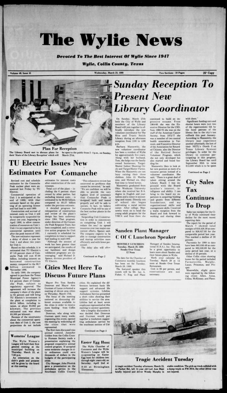 The Wylie News (Wylie, Tex ), Vol  40, No  41, Ed  1