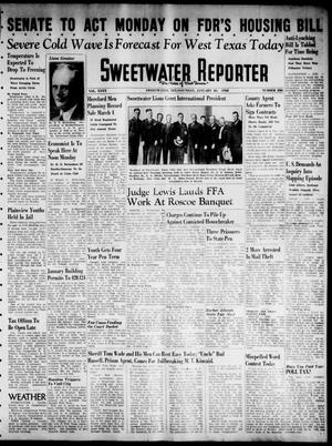 Primary view of object titled 'Sweetwater Reporter (Sweetwater, Tex.), Vol. 40, No. 286, Ed. 1 Sunday, January 30, 1938'.