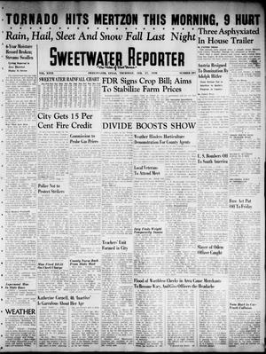 Primary view of object titled 'Sweetwater Reporter (Sweetwater, Tex.), Vol. 40, No. 297, Ed. 1 Thursday, February 17, 1938'.