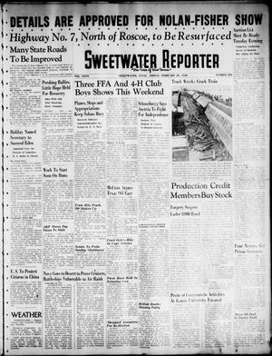Primary view of object titled 'Sweetwater Reporter (Sweetwater, Tex.), Vol. 40, No. 304, Ed. 1 Friday, February 25, 1938'.