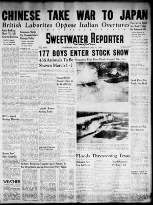 Primary view of object titled 'Sweetwater Reporter (Sweetwater, Tex.), Vol. 40, No. 302, Ed. 1 Wednesday, February 23, 1938'.