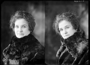 Primary view of object titled '[Woman With Fur Coat]'.
