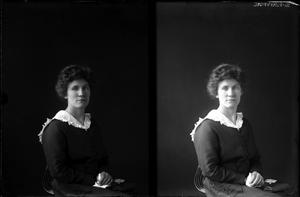 Primary view of object titled '[Portrait of a Woman]'.