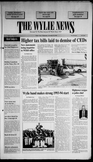 The Wylie News (Wylie, Tex.), Vol. 47, No. 23, Ed. 1 Wednesday, November 10, 1993