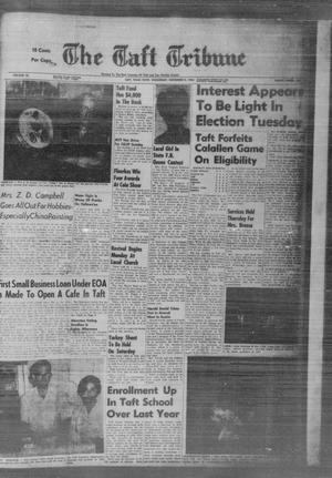 Primary view of object titled 'The Taft Tribune (Taft, Tex.), Vol. 45, No. 13, Ed. 1 Wednesday, November 2, 1966'.