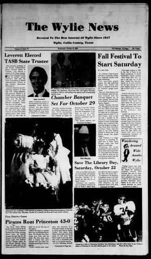 The Wylie News (Wylie, Tex.), Vol. 41, No. 18, Ed. 1 Wednesday, October 12, 1988