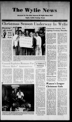 The Wylie News (Wylie, Tex.), Vol. 41, No. 25, Ed. 1 Wednesday, November 30, 1988