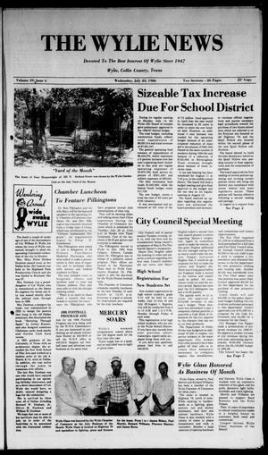 The Wylie News (Wylie, Tex.), Vol. 39, No. 6, Ed. 1 Wednesday, July 23, 1986