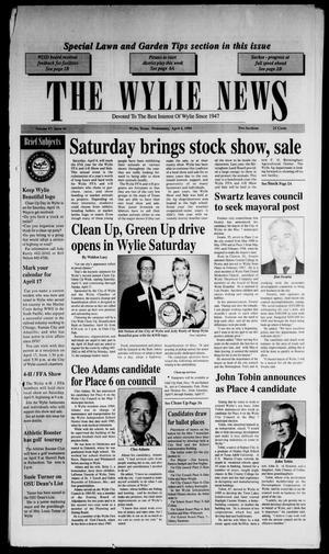 The Wylie News (Wylie, Tex.), Vol. 47, No. 44, Ed. 1 Wednesday, April 6, 1994