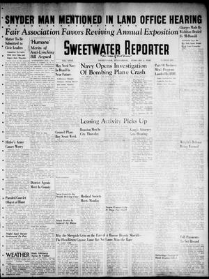 Primary view of object titled 'Sweetwater Reporter (Sweetwater, Tex.), Vol. 40, No. 289, Ed. 1 Friday, February 4, 1938'.