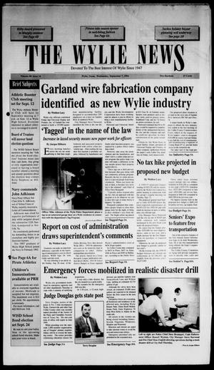 The Wylie News (Wylie, Tex.), Vol. 48, No. 14, Ed. 1 Wednesday, September 7, 1994