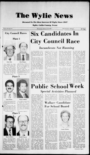 The Wylie News (Wylie, Tex.), Vol. 39, No. 37, Ed. 1 Wednesday, February 25, 1987