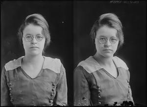 Primary view of object titled '[Woman with Glasses]'.
