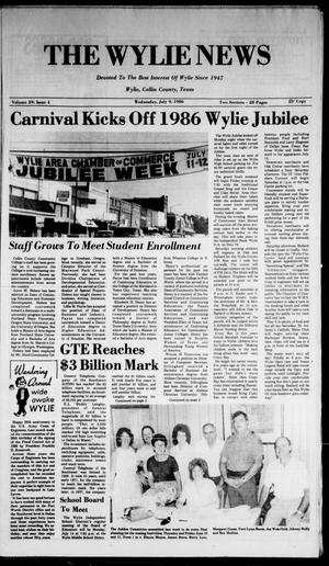 The Wylie News (Wylie, Tex.), Vol. 39, No. 4, Ed. 1 Wednesday, July 9, 1986