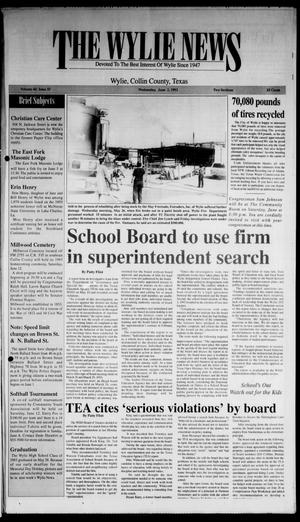 The Wylie News (Wylie, Tex.), Vol. 46, No. 52, Ed. 1 Wednesday, June 2, 1993