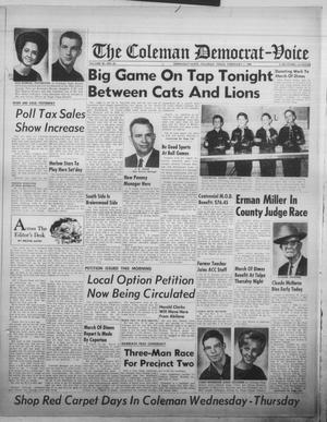 Primary view of object titled 'The Coleman Democrat-Voice (Coleman, Tex.), Vol. 85, No. 35, Ed. 1 Tuesday, February 1, 1966'.