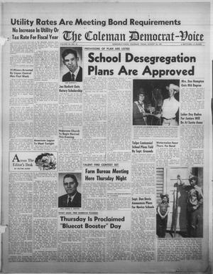 Primary view of object titled 'The Coleman Democrat-Voice (Coleman, Tex.), Vol. 85, No. 12, Ed. 1 Tuesday, August 24, 1965'.