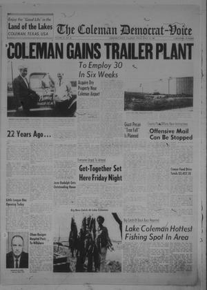 Primary view of object titled 'The Coleman Democrat-Voice (Coleman, Tex.), Vol. 87, No. 46, Ed. 1 Tuesday, April 16, 1968'.