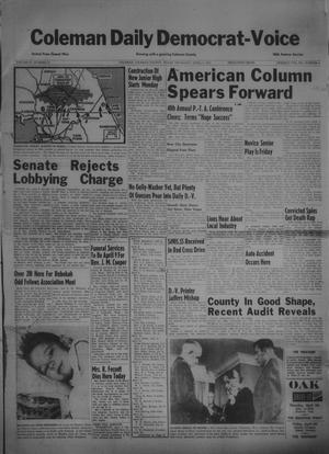 Primary view of object titled 'Coleman Daily Democrat-Voice (Coleman, Tex.), Vol. 3, No. 81, Ed. 1 Thursday, April 5, 1951'.
