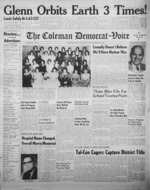 Primary view of The Coleman Democrat-Voice (Coleman, Tex.), Vol. 81, No. 37, Ed. 1 Tuesday, February 20, 1962