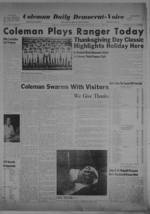 Primary view of object titled 'Coleman Daily Democrat-Voice (Coleman, Tex.), Vol. 2, No. 335, Ed. 1 Thursday, November 23, 1950'.