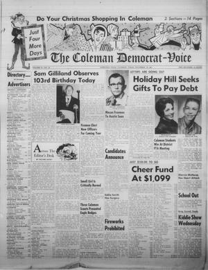 Primary view of object titled 'The Coleman Democrat-Voice (Coleman, Tex.), Vol. 81, No. 28, Ed. 1 Tuesday, December 19, 1961'.
