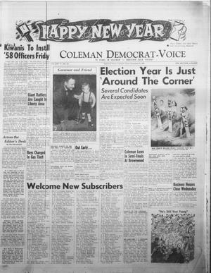 Primary view of object titled 'Coleman Democrat-Voice (Coleman, Tex.), Vol. 78, No. 29, Ed. 1 Tuesday, December 31, 1957'.