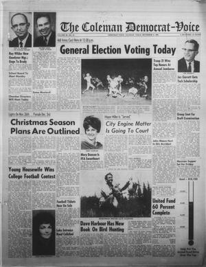 Primary view of object titled 'The Coleman Democrat-Voice (Coleman, Tex.), Vol. 86, No. 23, Ed. 1 Tuesday, November 8, 1966'.