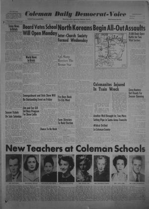 Primary view of object titled 'Coleman Daily Democrat-Voice (Coleman, Tex.), Vol. 2, No. 264, Ed. 1 Thursday, August 31, 1950'.