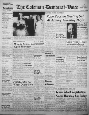 Primary view of object titled 'The Coleman Democrat-Voice (Coleman, Tex.), Vol. 82, No. 12, Ed. 1 Tuesday, August 28, 1962'.