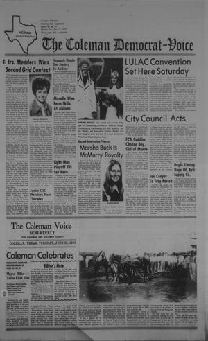 Primary view of object titled 'The Coleman Democrat-Voice (Coleman, Tex.), Vol. 95, No. 25, Ed. 1 Tuesday, November 11, 1975'.