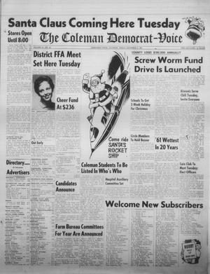Primary view of object titled 'The Coleman Democrat-Voice (Coleman, Tex.), Vol. 81, No. 26, Ed. 1 Tuesday, December 5, 1961'.