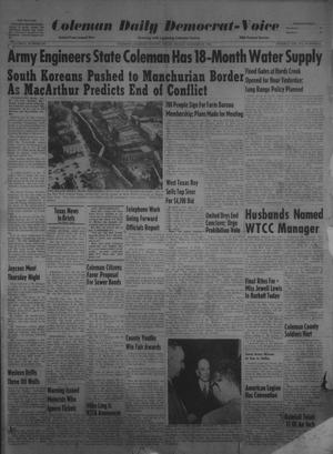 Primary view of object titled 'Coleman Daily Democrat-Voice (Coleman, Tex.), Vol. 2, No. 307, Ed. 1 Friday, October 20, 1950'.