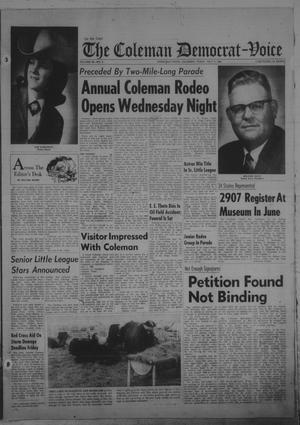 Primary view of object titled 'The Coleman Democrat-Voice (Coleman, Tex.), Vol. 89, No. 6, Ed. 1 Tuesday, July 8, 1969'.
